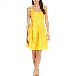 Nine West Fit & Flare Yellow Tank Dress Size 12